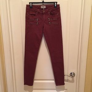 PAIGE Jeans with Front Zipper Pockets